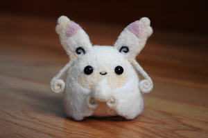 Felted Mega Audino by xxNostalgic