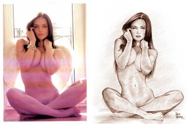 The Photo Behind the Drawing by Tarzman