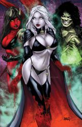 Lady Death Collage colors by hanzozuken