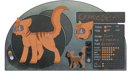 Coyotedust | Shadowclan | deputy(try-out) by millemusen