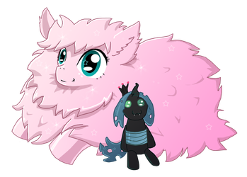 Fluffle Puff with Plushie by Deathdog3000