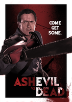 Ash vs. Evil Dead by ChristopherOwenArt