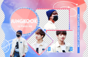 PNG PACK: Jungkook #01 by hurtears