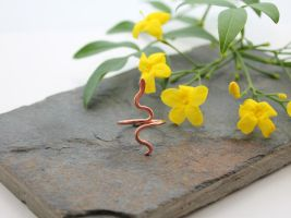 Snake adjustable ring - Copper by AbbyHook