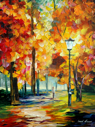 Red Autumn by Leonid Afremov by Leonidafremov