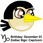 Maria's Zodiac Sign: Capricorn by Mario1998