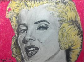 Marilyn Monroe Charcoal and Pastel by DustinJWCook