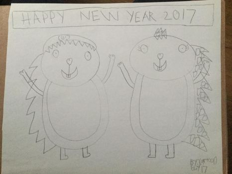 CG17 And Flaky Wishing Everyone A Happy New Year by CARTOONGUY17