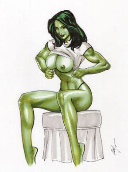 She-Hulk topless by noon1996