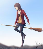 Flying Witch by CaptainBombastic