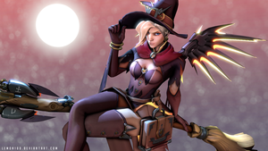 Mercy witch - Happy Halloween! Overwatch / SFM by lemon100