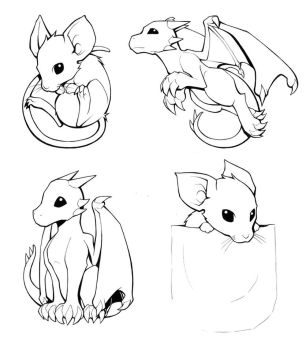 Mouse and Dragon by H0lyhandgrenade