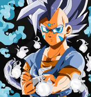 Silver Super DragaSaiyan God -Vegeta Junior- by Rainstar-123