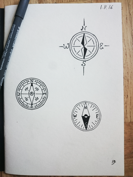 Tattoo Design: Compass by TheHatter-10-6