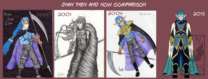 Then and Now- Progression of Jhan by Aqua-Drannix