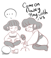 Play with us flowey by W00tification