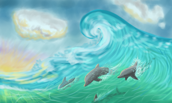 Dolphins by TanyaLis