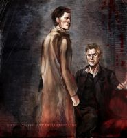 Go away from my angel, bitch - Dean and Castiel by Nienn-Lieuttenant