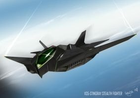 V35 STINGRAY STEALTH FIGHTER by Kronium