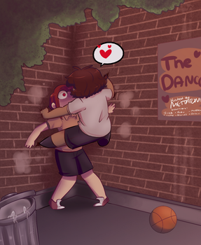 You, me, Dance at Friday. by Channydraws