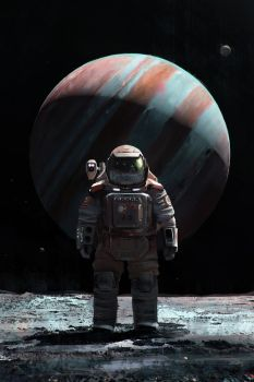 Cosmonaut on Ganymede by MacRebisz