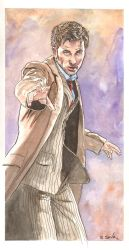 Dr. Who Tennant Watercolor... by ssava