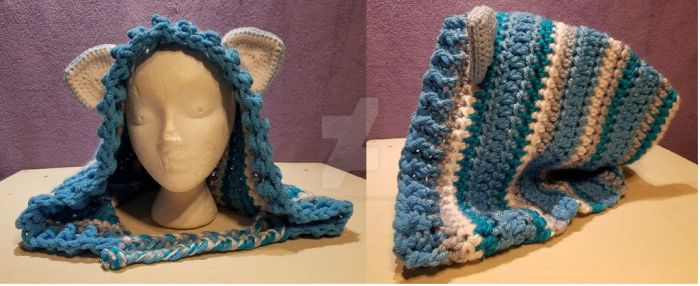 Blue Skies Kitty Hood by TwoTailCreations