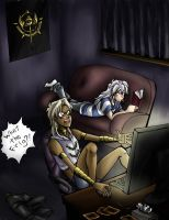 When Marik plays videogames by Motimerri