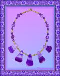 DRUZY PURPLE AGATE NECKLACE by Voodoomamma