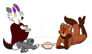 Tea Time [at] by lunar-neo