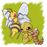 Pokedex: #013 #014 #015 by BoxBird