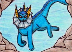 Vaporeon's Silver Cave by lilystell