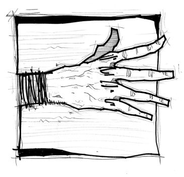 Zombie hand sketch by mrboomshot