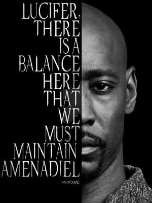 Amenadiel - There is a balance here by NotXMe
