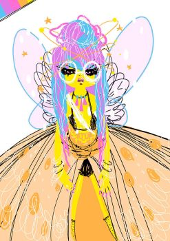 Rainbow Fairypunk Sketch by OhAnneli