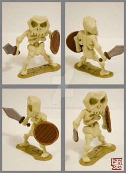 Skeleton Polymer Model by Ryan-TheGrav-Berry
