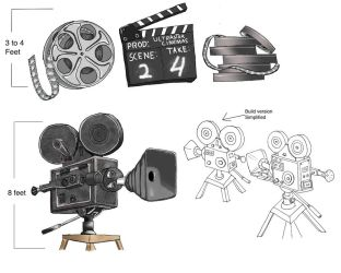 Giant movie camera by aestheticreations