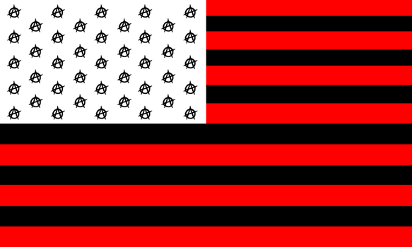 Ununited States of Anarchy (USA) Flag by topher147