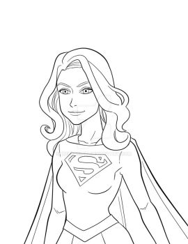 Supergirl Lineart by melcasipit