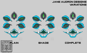 Sticker Design - Eyes of Madness: Blue and Silver by Jane2Audron
