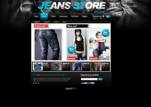 Jeans Store Mockup by gauntler