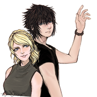 Noctis and Luna by OMG-L3NA