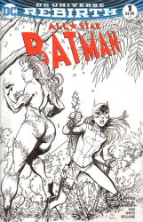 Batgirl and Poison Ivy Sketch Cover by J-WRIG