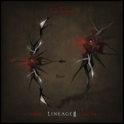 Weapon set concept Lineage II. Bow by llaiii