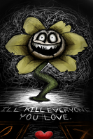 Flowey Threatens You Even When You Spare Him by LunarHalo24