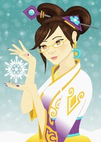 Mei, the Snow Queen by feathered-thorn