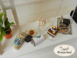 Polymer Clay Starbucks Necklace by Bunny-84