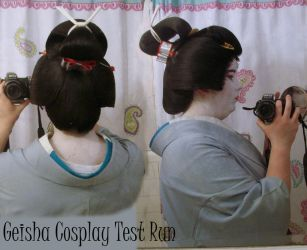 Geisha Cosplay Test-Run Details by bornahorse