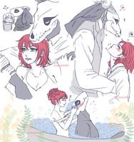 some quick cute drabbles by Yui-Sakaino
