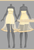 Yellow Chompaigne Dress [Download] by Fujiwara-no-Moko